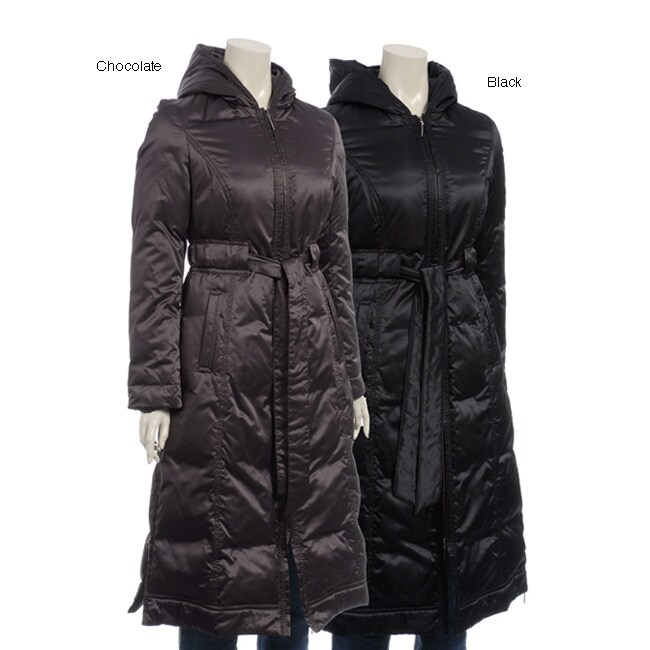 Via Spiga Women's Maxi-length Hooded Down Jacket