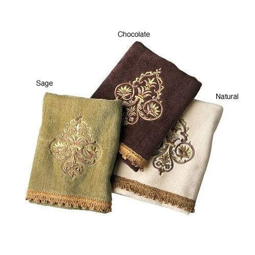 Croscill Hand Towels: Croscill Crescent Embroidered Hand Towels (Set Of 2