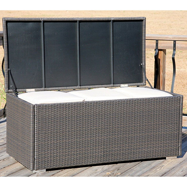 All Weather Wicker Storage Trunk Free Shipping Today
