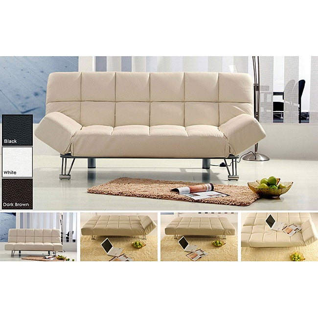 Plush Leather Sofa Bed