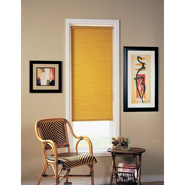 Honey-colored Roller Window Shade (29 in. x 68 in.)