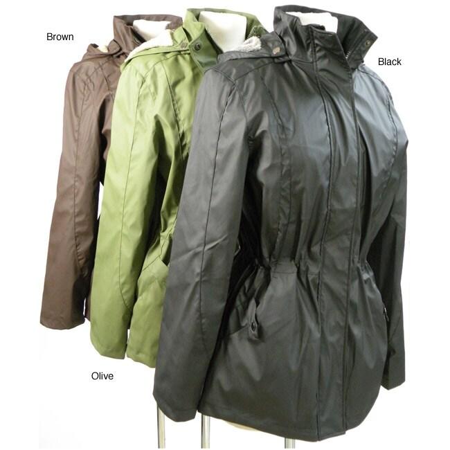 Cecil Gee Plus Size Women's Fleece-lined Hood Rain Jacket - Free ...