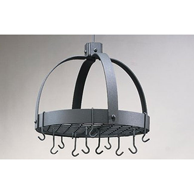 Graphite Pot Rack with 16 Hooks