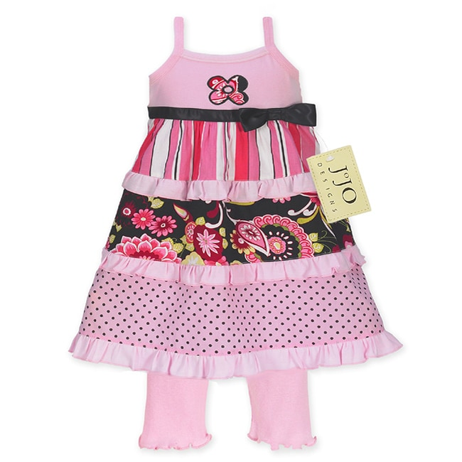 Sweet Jojo Designs Toddler Girl's 2-piece Pink Outfit