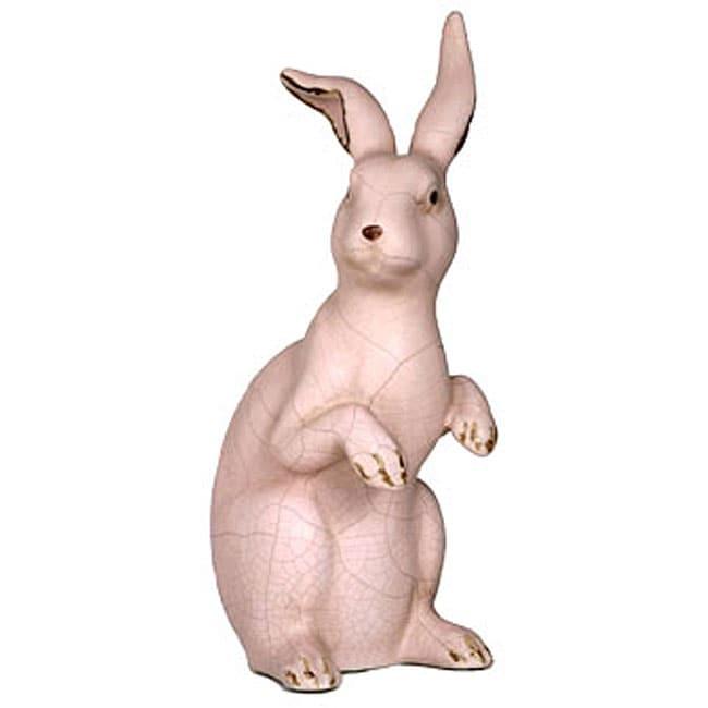 Large Pink Ceramic Bunny