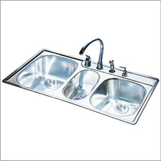 Franke Triple-bowl Stainless Steel Kitchen Sink - Free Shipping Today ...