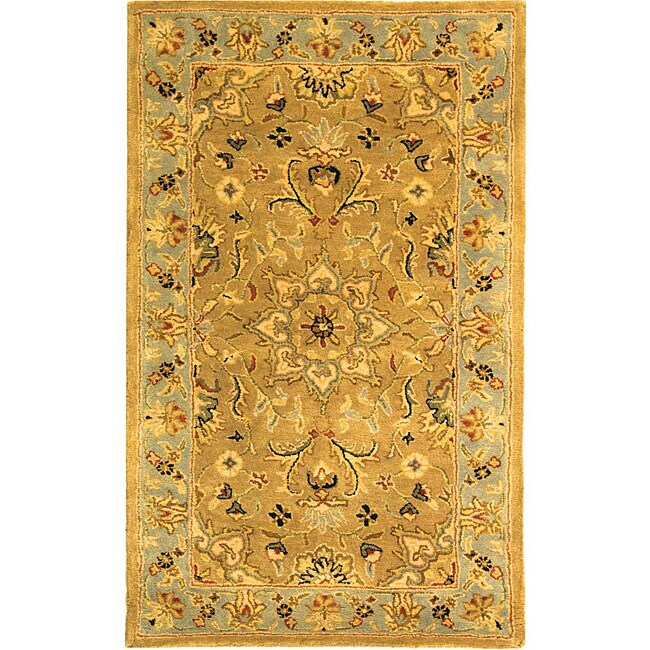 Safavieh Handmade Classic Heirloom Beige Wool Rug - 3' x 5'
