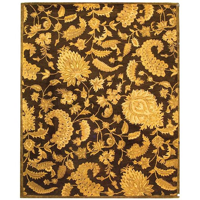 Safavieh Handmade Classic Paisley Brown Wool Rug - 9'6 x 13'6
