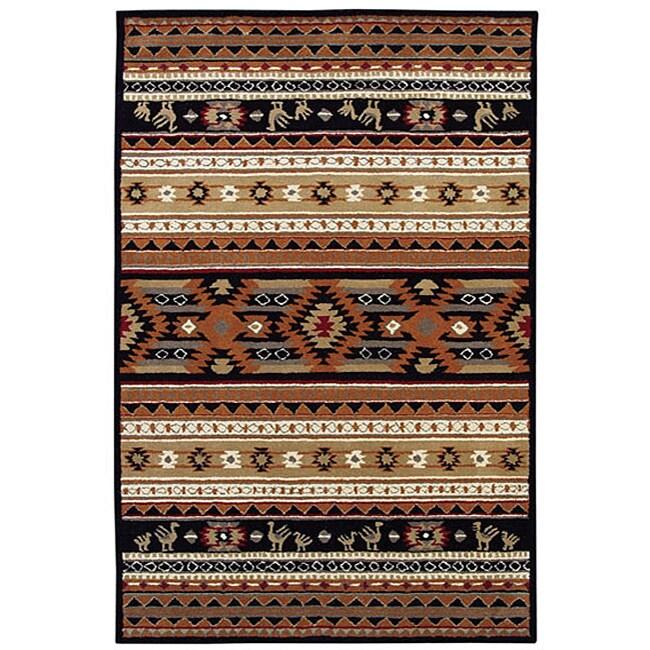 Hand Tufted Cherokee Wool Rug 5 X 8 Free Shipping
