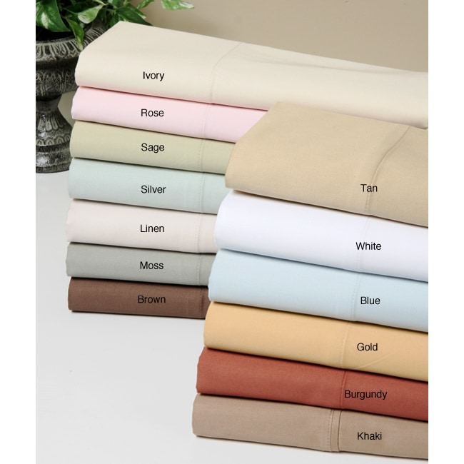 Hotel Fine Linens 600 Thread Count Egyptian Sheet Set