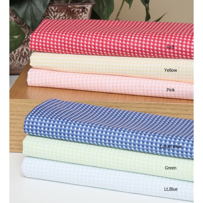Windsor Collection 200 Thread Count Gingham Check Sheets