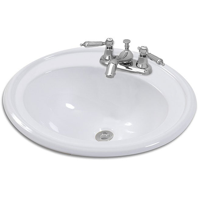 Shop Rimini Oval Drop In Bathroom Sink Free Shipping