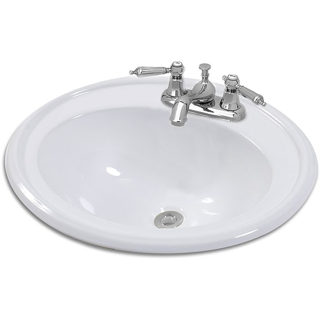 oval bathroom sinks drop in rimini oval drop in bathroom sink free shipping today 23895