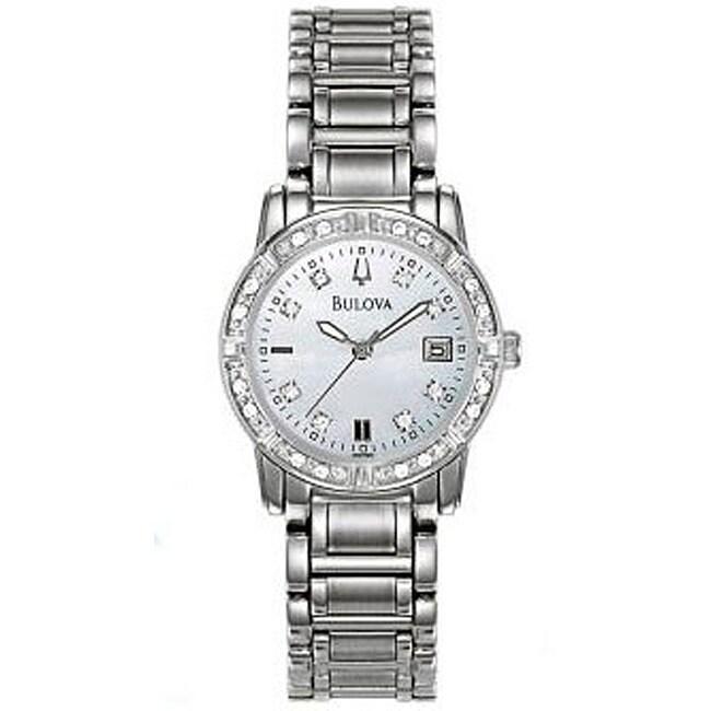 BULOVA Women's Maestro Diamond Accented Watch, Silver, Si...