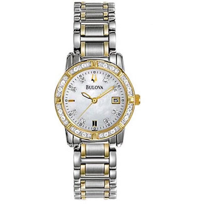 BULOVA Women's Diamond Accent Calendar Watch (Bulova Wome...