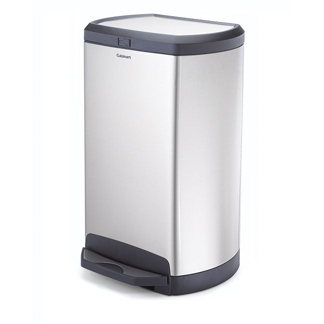 Cuisinart Stainless Steel 10 Gallon Oval Step Trash Can