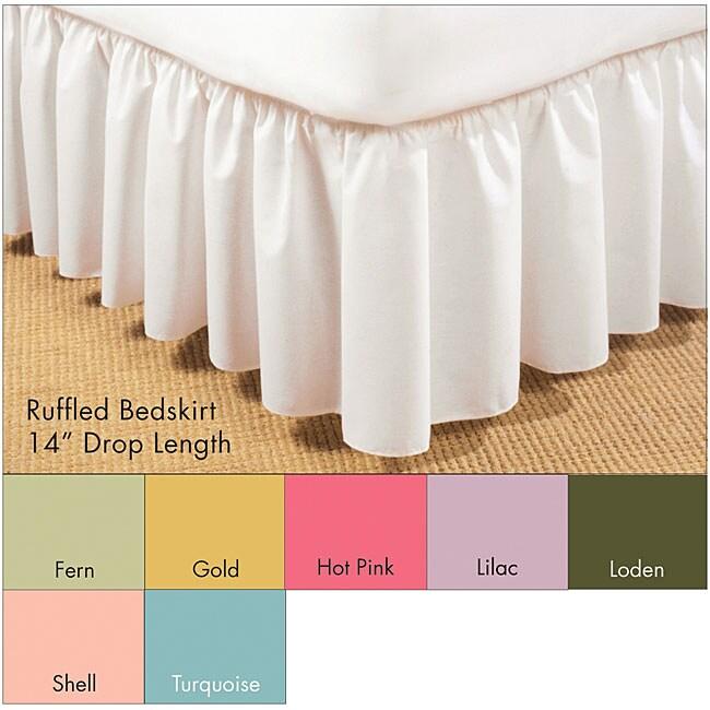 Ruffled Poplin 14-inch Bedskirt