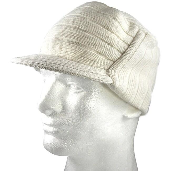 Iced Out Gear White Visor Beanie Hat