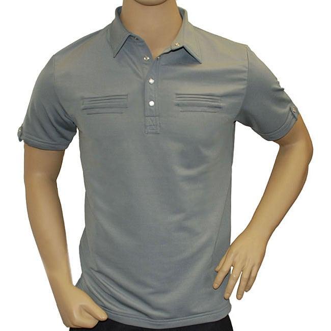 Travis Mathew Men 39 S Grey Double Pocket Polo Golf Shirt