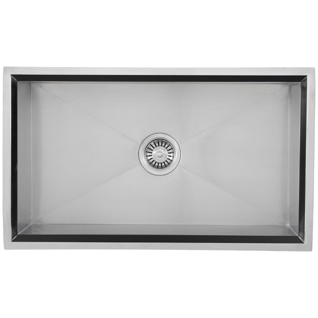 Ticor Square Undermount 16 Gauge Stainless Steel Beveled Kitchen Sink - Thumbnail 0