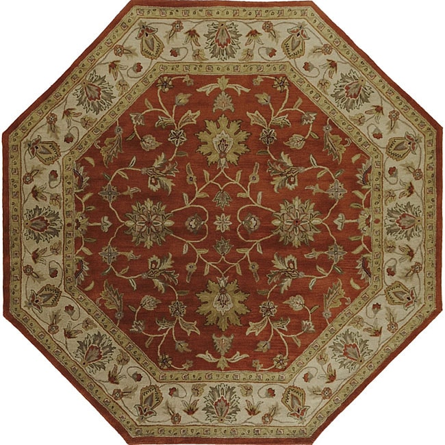 Hand Tufted Camelot Oriental Wool Area Rug 8 Octagon