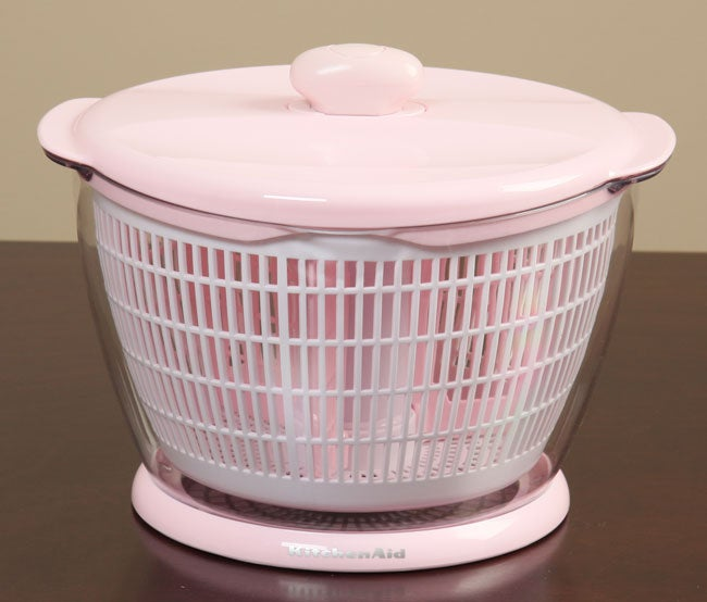 Kitchenaid Professional Pink 6 Quart Salad Fruit Spinner