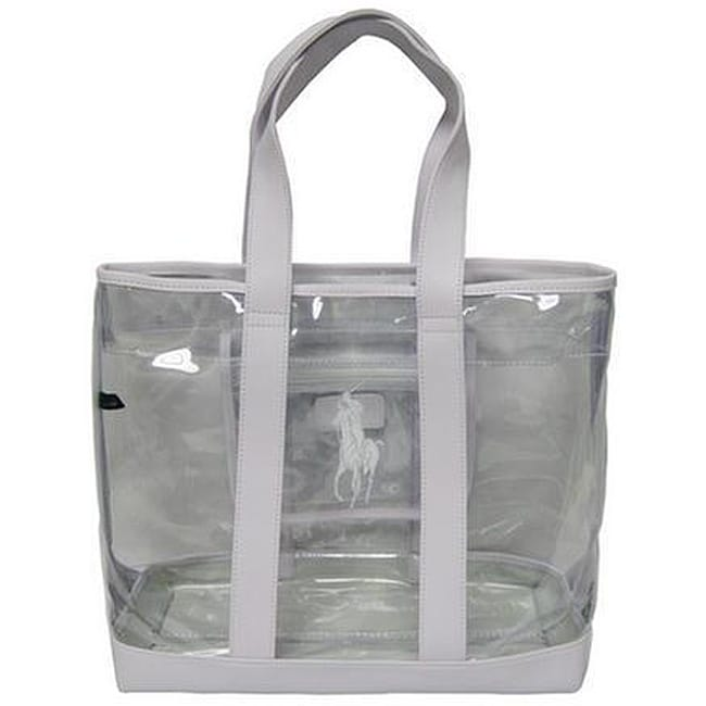 e38927be2 Shop Polo Ralph Lauren Clear Pony Tote - Free Shipping On Orders Over $45 -  Overstock - 3862839