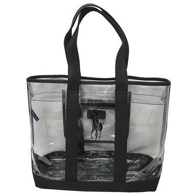 4bf7c97b2 Shop Polo Ralph Lauren Clear/ Black Pony Tote - Free Shipping On Orders  Over $45 - Overstock - 3862838