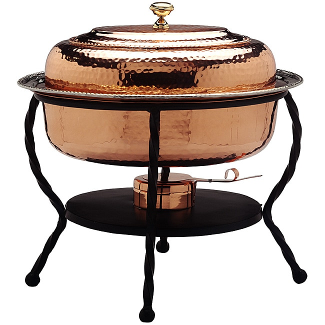Shop Oval Copper Chafing Dish Free Shipping Today