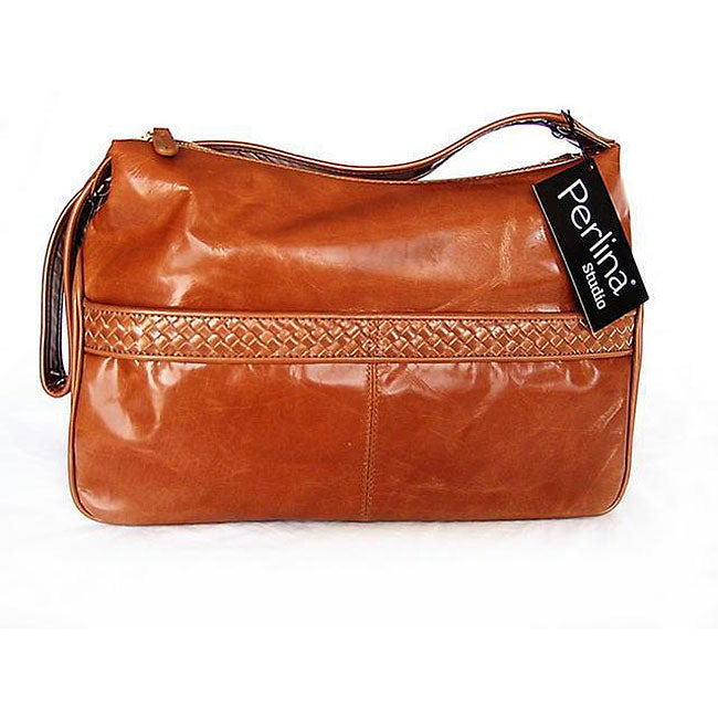 Perlina Studio Cognac Hobo Bag - Free Shipping Today - Overstock ...