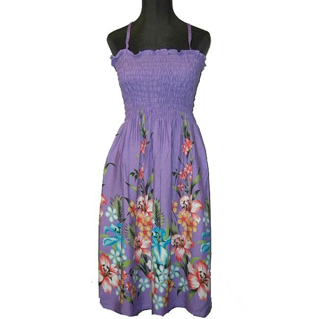 81e1fdb03da Shop Hibiscus Collection Women s Purple Hawaiian Dress - Free Shipping On  Orders Over  45 - Overstock - 3865154