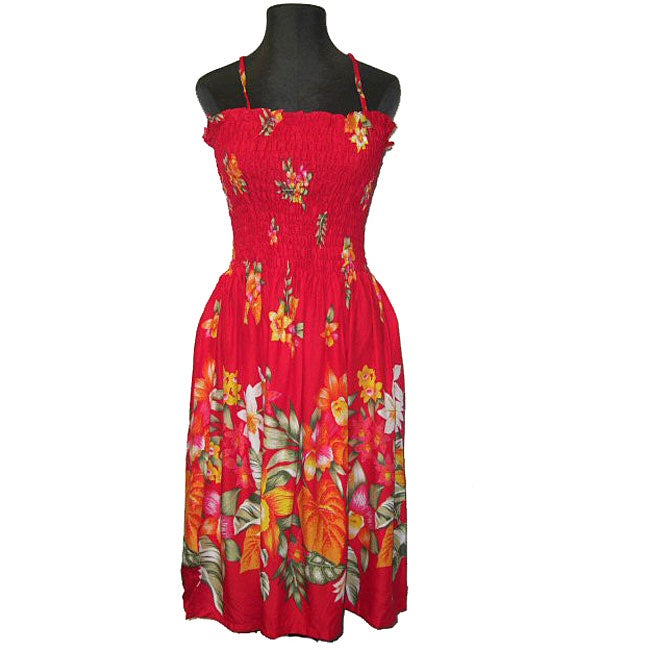 32aa4b4e92d Shop Hibiscus Collection Women s Red Hawaiian Dress - Free Shipping On  Orders Over  45 - Overstock - 3865156