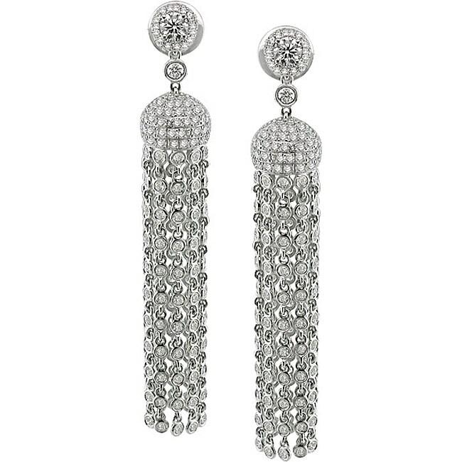 18k White Gold 6ct TDW Diamond Chandelier Earrings GH SI – Black Diamond Chandelier Earrings
