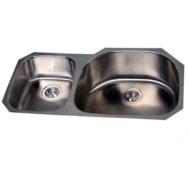 Stainless Steel Double Offset Undermount Kitchen Sink