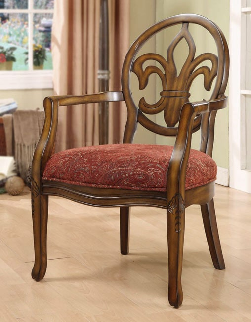 Paisley Wine Fleur De Lis Arm Chair Free Shipping Today