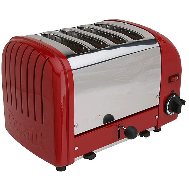 Shop Dualit Classic Red 4 Slice Toaster Free Shipping