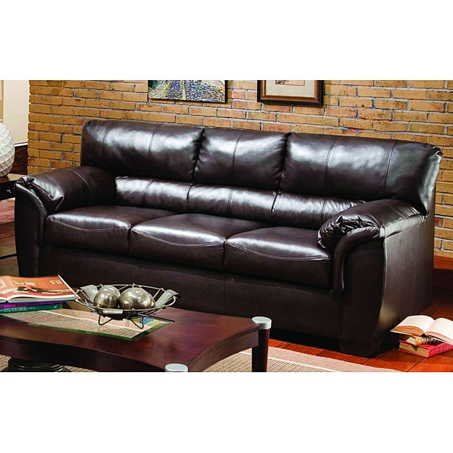 simmons harbortown faux leather sofa reviews - 28 images ...