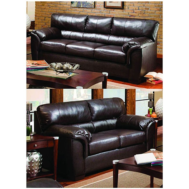 Simmons London Walnut Sofa And Loveseat Free Shipping Today