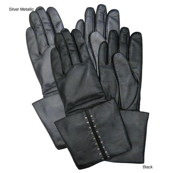 MICHAEL Michael Kors Astor Cuff Leather Gloves