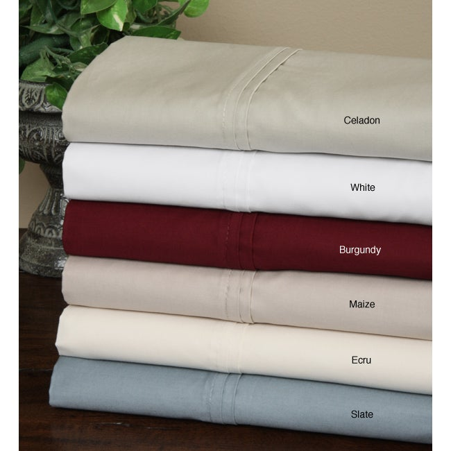 Hotel Fine Linens 500 Thread Count Pima Cotton Sheet Set with Bonus Pillowcases