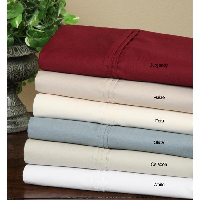 Hotel Fine Linens 620 Thread Count Sateen Sheet Set