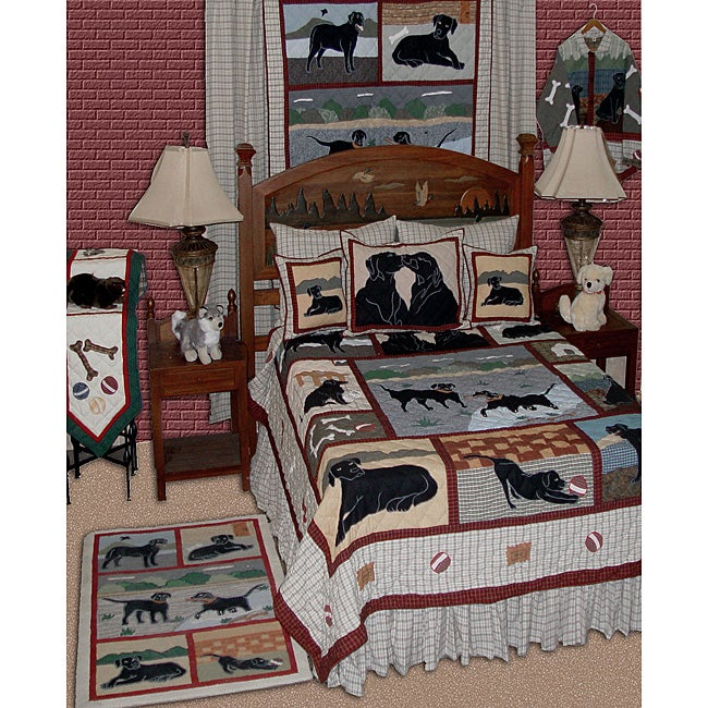 Twin Size Black Lab Quilt Free Shipping Today