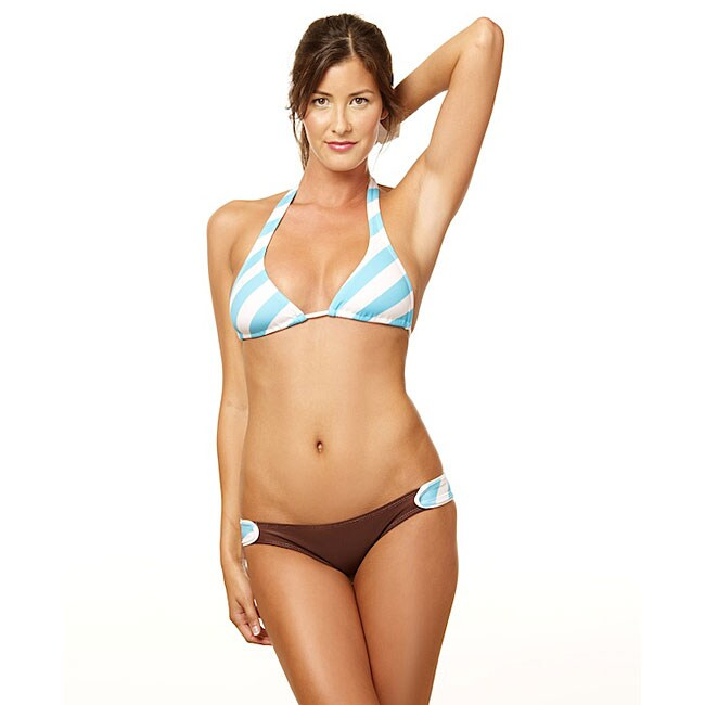 Lisa Lozano Wrap Around Striped Halter and Hipster