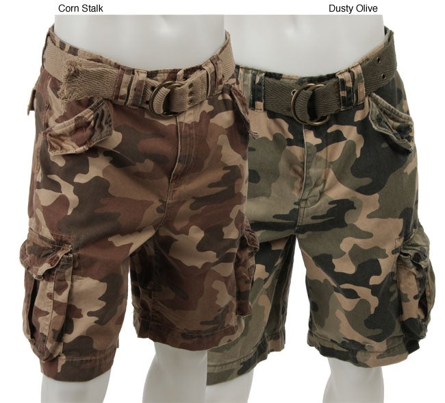 FINAL SALE G&M Men's Camouflage Vintage-wash Cargo Shorts - Free ...