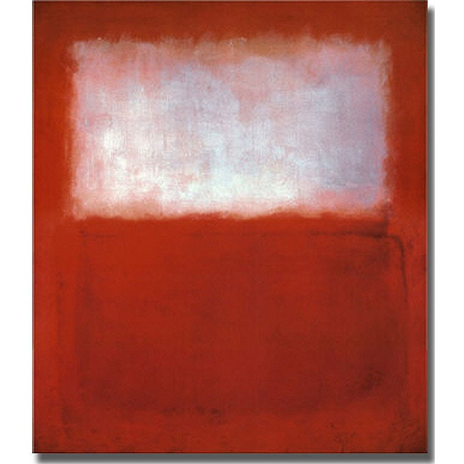 Mark Rothko, 'White over Red' Unframed Stretched-canvas Art