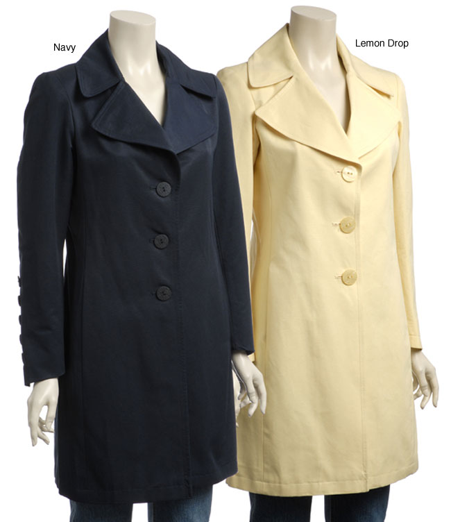 be1a78901 Shop Tahari by Elie Tahari Women s Lola Fit and Flare Spring Coat - Free  Shipping Today - Overstock - 3876200