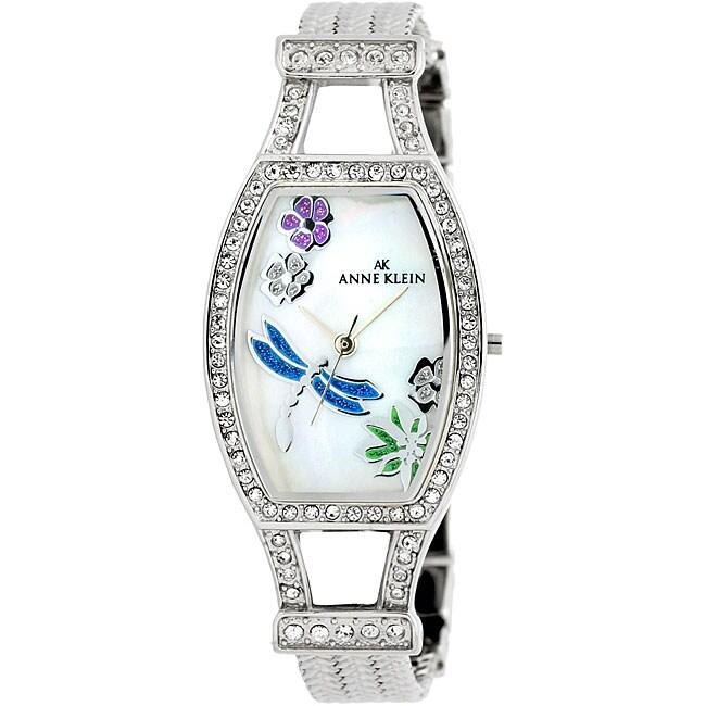 9e99771db136b AK Anne Klein Women's Silvertone Dragonfly Dress Watch