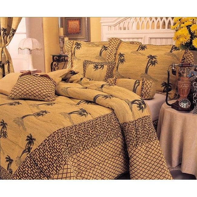 Roginal 7-piece Yarn-dyed Fabric Comforter Set