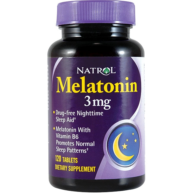 Natrol Melatonin 3mg Pills (Pack of 3 120-count Bottles)
