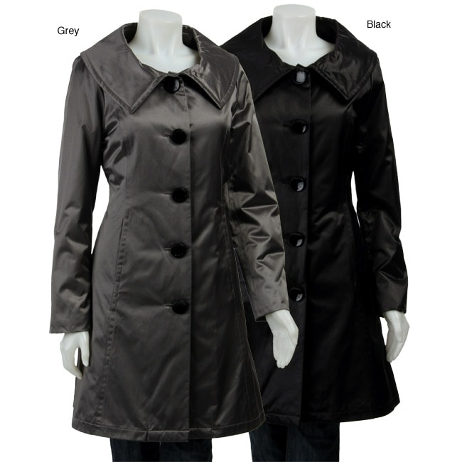 Abs Silver Label Women S Poly Filled Heavy Satin Rain Coat